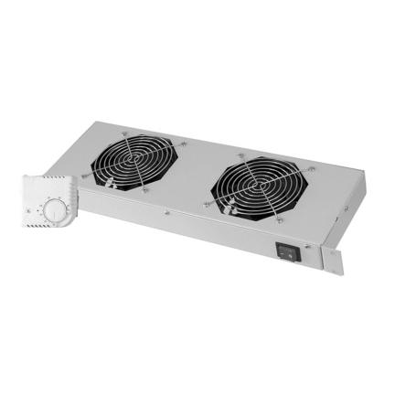 """DN-19FAN-4-HOSW Unité de ventilation 19/"""" 1 U Ventilateurs 4 x 120mm Noir"""