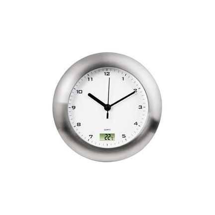 hama horloge murale salle de bain horloge quartz argent. Black Bedroom Furniture Sets. Home Design Ideas