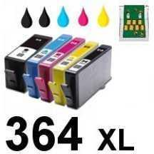 multipack compatible hp 364xl 5 cartouches h364xx. Black Bedroom Furniture Sets. Home Design Ideas